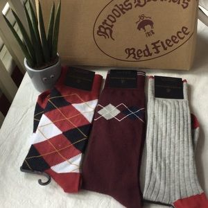 NEW Brooks Brothers Lot of 3 Dress Socks